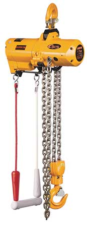 Air Chain Hoist, 2000 lb. Cap., 15 ft. Lft