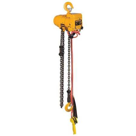 Air Chain Hoist, 500 lb. Cap., 15 ft. Lift