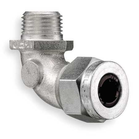 Liquid Tight Connector, 1/2in., 90 deg, Brn
