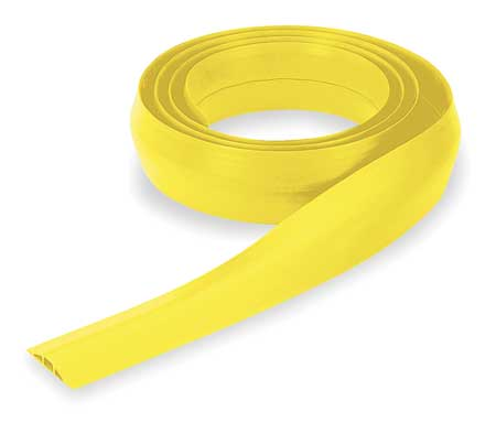 Cable Protector, 1 Channel, Yellow, 10 ft.L
