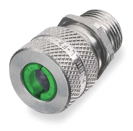 Liquid Tight Connector, 1/2 in., Green