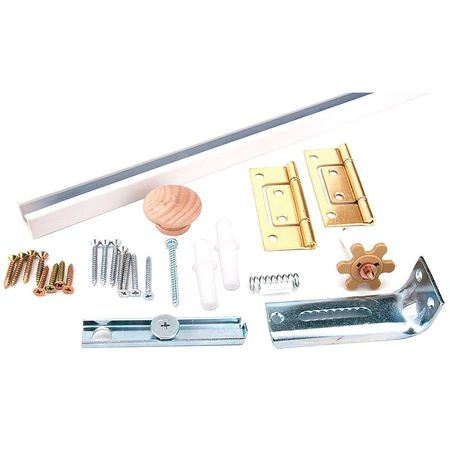Bi-Fold Door Hardware Set, White, 36 In.