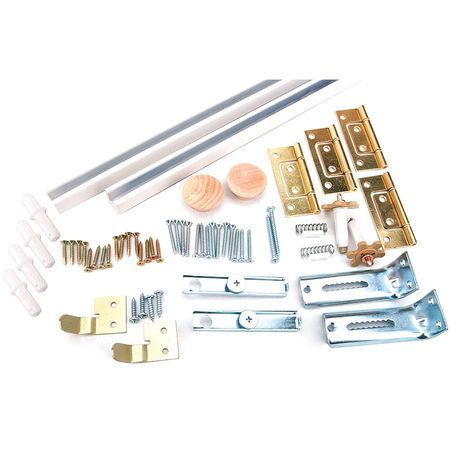 Bi-Fold Door Hardware Set, White, 72 In.