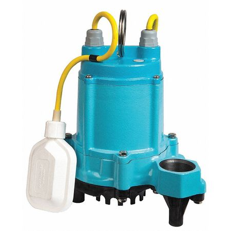 "1/3 HP 1-1/2"" High Temp Submersible Sump Pump 115V Tether"