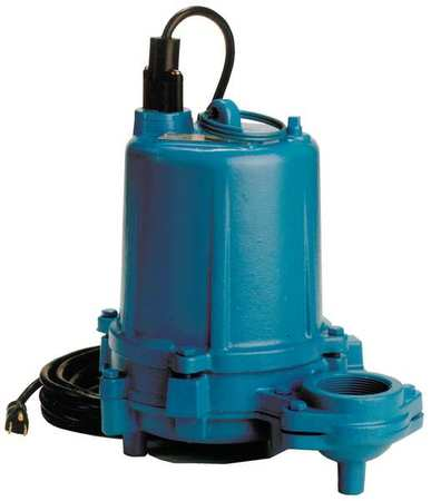 Submersible Effluent Pump, 1 HP, 13.3A