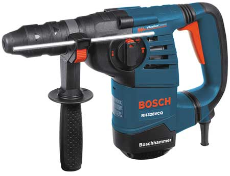 Rotary Hammer, SDS Plus, 8A@120V, 0to900rpm