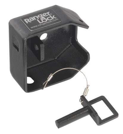 "Padlock Guard, Hardened Steel, Blk, 2""L"