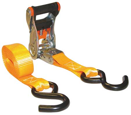 Tie-Down Strap, Ratchet, 10ft. x 1In., PK4