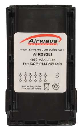 Battery Pack, Li-Ion, 7.4V, For Icom