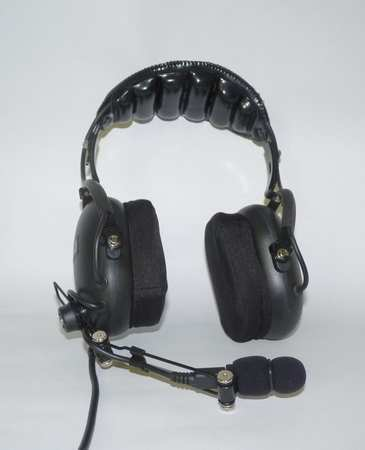 Headset, Over the Head, Over Ear, Black