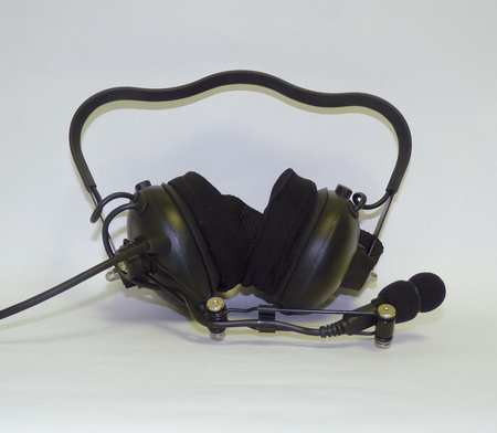Headset, Behind the Head, Over Ear, Black