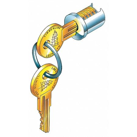 Lock Cylinder,  Nickel,  Key 103T