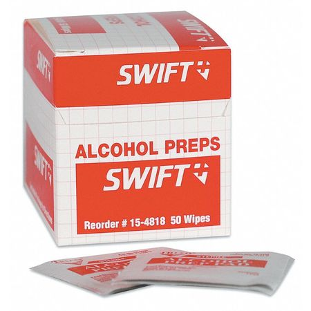 Alcohol Towelettes, 1 x 2-1/2 In., PK50