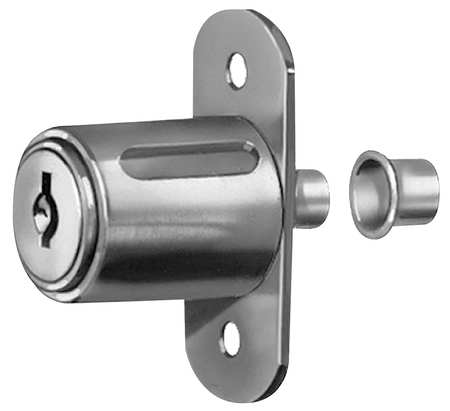 Sliding Door Lock,  Nickel, Key C415A