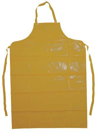 Bib Apron, Yellow, 50 In. L