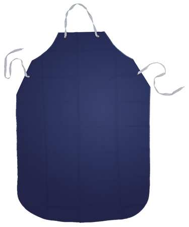 Bib Apron, Blue, 48 In. L