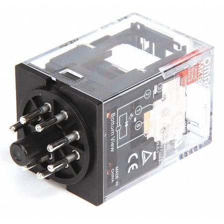 Plug In Relay, 8 Pins, Octal, 120VAC