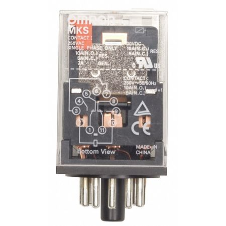 Plug In Relay, 11 Pins, Octal, 24VDC
