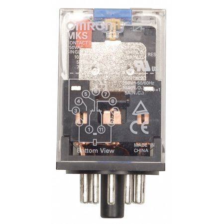 Plug In Relay, 11 Pins, Octal, 12VDC