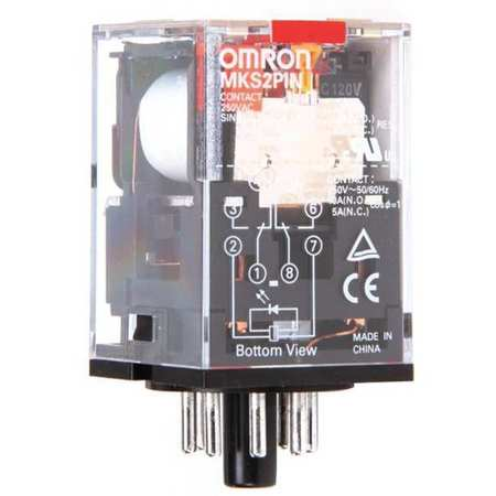 Plug In Relay, 8 Pins, Octal, 120VAC