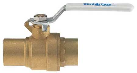 "1-1/2"" Sweat Brass Ball Valve Inline"