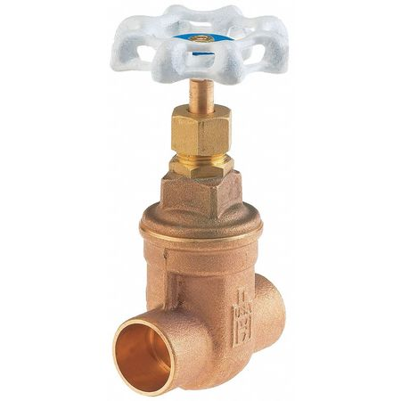 Gate Valve, 1-1/2 In., Solder, Bronze