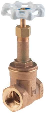 Gate Valve, 1-1/4 In., Bronze