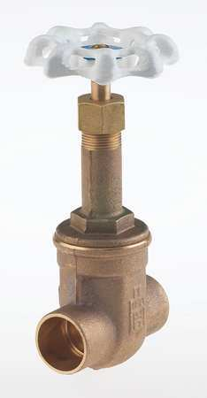 Gate Valve, 3/8 In., Solder, Bronze,  Min. Qty 10