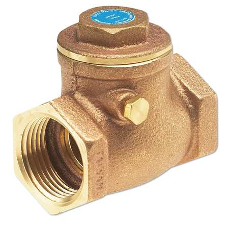 "3/8"" Threaded Low Lead Bronze Spring Check Valve"