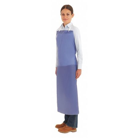 Bib Apron, Blue, 44 In. L
