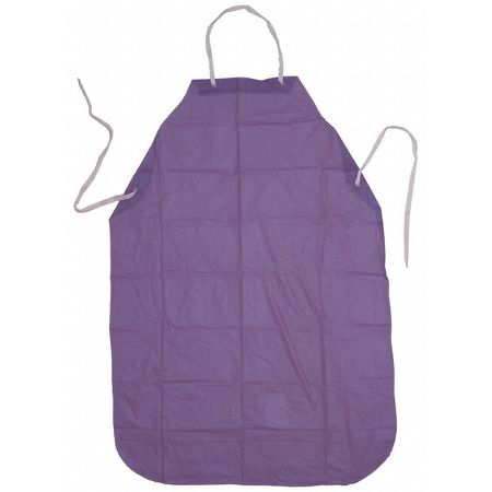 Bib Apron, Blue, 47 In. L, Vinyl