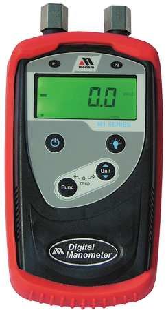 Digital Manometer.0to2000 In WC.+/-0.25
