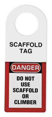 Scaffold Status Holder, 12 x 4-1/2 In.