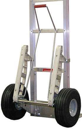 Hand Truck Pull/Kick Bar Kit, 3in H, Al