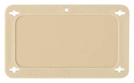 Blank Tag, 1-1/2 x 3 In, Tan, Plstc