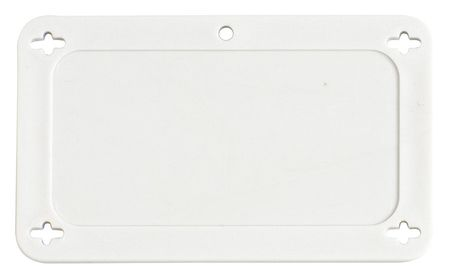 Blank Tag, 1-1/2 x 3 In, Wht, Plstc