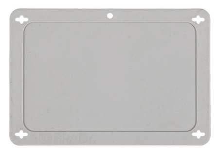 Blank Tag, 2-1/2 x 4 In, Gra, Plstc