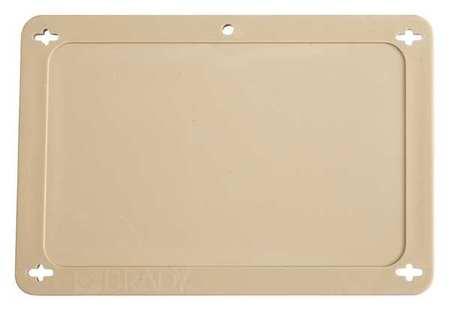 Blank Tag, 2-1/2 x 4 In, Tan, Plstc
