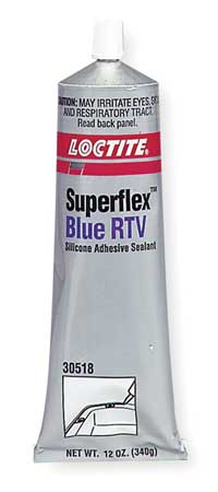 RTV Silicone Sealant, 12 oz Tube, Blue