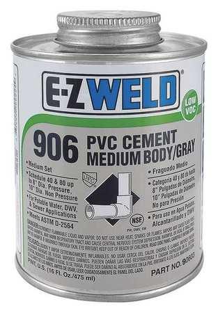 Cement, 8 Oz, Gray, PVC, Medium Body Gray
