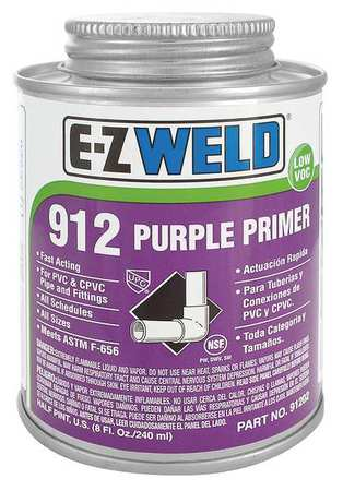 Primer, 8 Oz, Purple, PVC, CPVC
