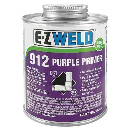 Primer, 16 Oz, Purple, PVC, CPVC
