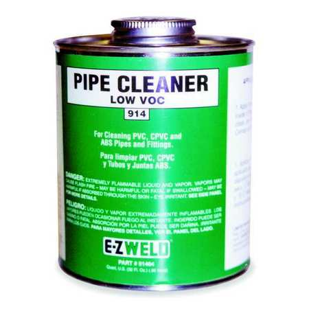 Cleaner, 16 Oz, Clear, PVC, CPVC, ABS