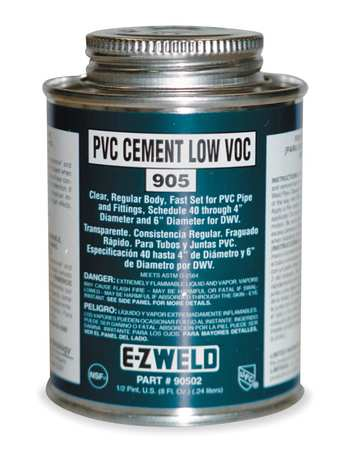 Cement, 32 Oz, Clear, PVC, Low VOC