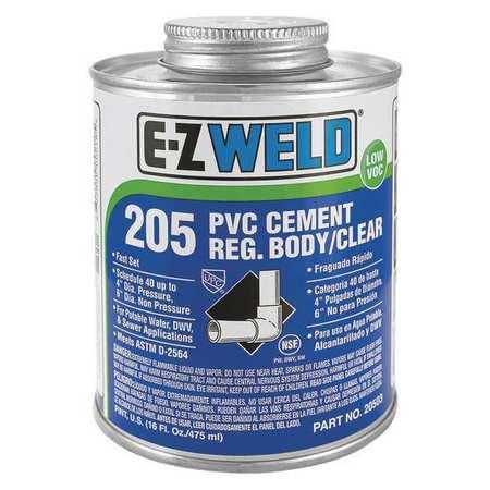Cement, 32 Oz, Clear, PVC, Low VOC