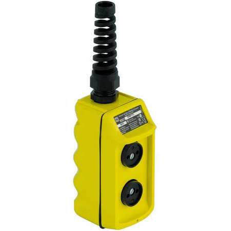 Pendant Push Button Station, NO/NC, Yellow