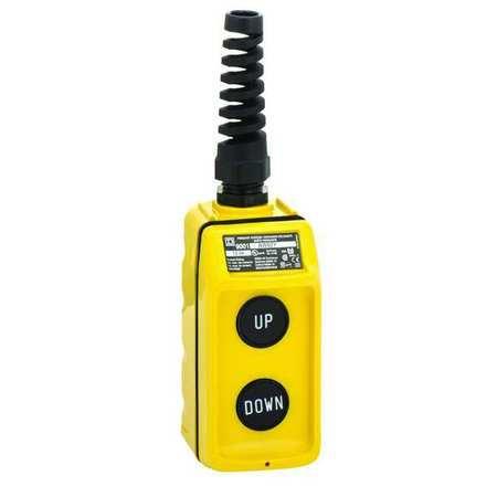 Pendant Push Button Station, 2NO, Yellow