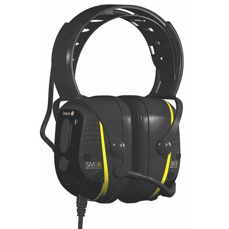 Electronic Ear Muff, 23dB, Over-the-H, Grn