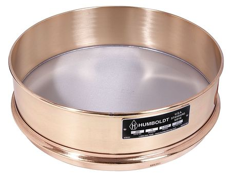 Sieve, 12 In, Brass Frame, SS Mesh, No. 850