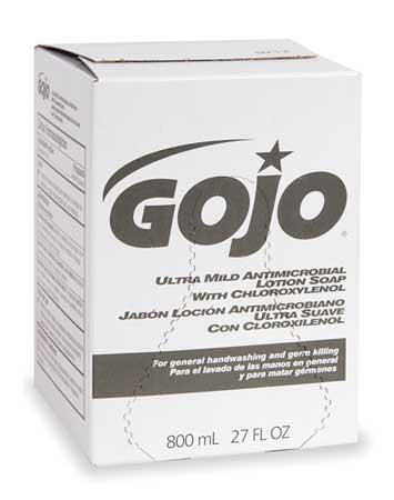 GOJO 800 mL Floral Antimicrobial Soap Refill